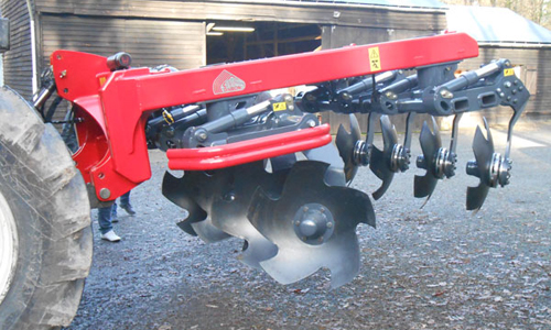 Disk plow side view